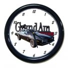 New Black 1973 Pontiac Grand Am Wall Clock