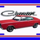 NEW Red 1966 Dodge Charger License Plate FREE SHIPPING!