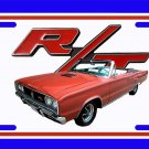 NEW Rust 1967 Dodge Coronet RT Convertible License Plate FREE SHIPPING!