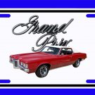 NEW Red 1969 Pontiac Grand Prix License Plate FREE SHIPPING!