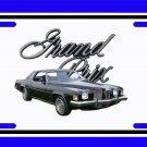 NEW Black 1973 Pontiac Grand Prix License Plate FREE SHIPPING!
