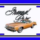 NEW Copper 1977 Pontiac Grand Prix License Plate FREE SHIPPING!