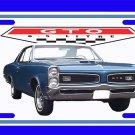 NEW Blue 1966 Pontiac GTO License Plate FREE SHIPPING!