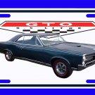 NEW Dark Blue 1966 Pontiac GTO License Plate FREE SHIPPING!