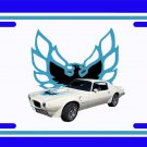 NEW 1973 White Pontiac Firebird Trans AM License Plate FREE SHIPPING!