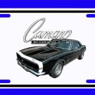 NEW 1967 Black Chevy Camaro RS/SS License Plate FREE SHIPPING!