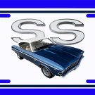 NEW 1969 Blue Chevy Chevelle SS w/ SS Logo License Plate FREE SHIPPING!