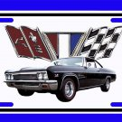 NEW 1966 Black Chevy Impala License Plate FREE SHIPPING!