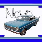 NEW 1965 Blue Chevy Nova w/ Nova Logo License Plate FREE SHIPPING!