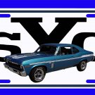 NEW 1969 Blue Chevy Yenko Nova w/ YSC Logo License Plate FREE SHIPPING!