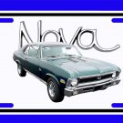 NEW 1970 Green Chevy Nova w/ Nova Logo License Plate FREE SHIPPING!