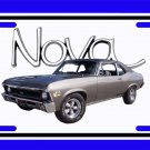 NEW 1970 Pewter Chevy Nova w/ Nova Logo License Plate FREE SHIPPING!