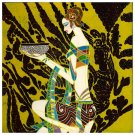 Vietnamese Modern Lacquer Painting, 12 x 12, 041