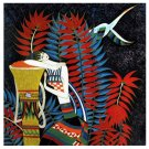 Vietnamese Modern Lacquer Painting, 9 1/2 x 9 1/2, 020