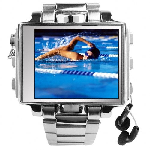 Ultimate Style 8GB Steel MP4 Player Watch - 1.8 Inch Screen New