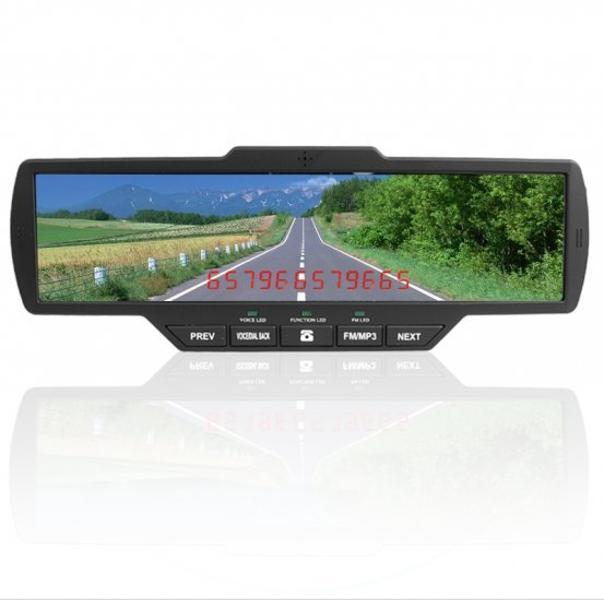 Car Bluetooth Clip On Rearview Mirror with SD + USB Port New