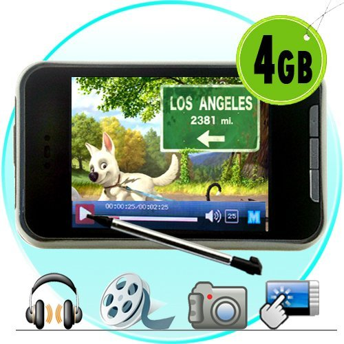 Touchscreen MP4 Player + Video Camera 4GB New