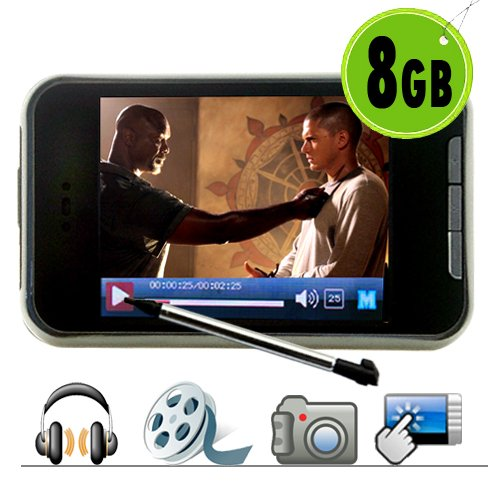 Touchscreen MP4 Player + Video Camera 8GB New