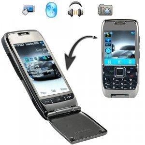 Emerald - 3 Inch Touchscreen Dual SIM World Phone + Flip Key Pad New
