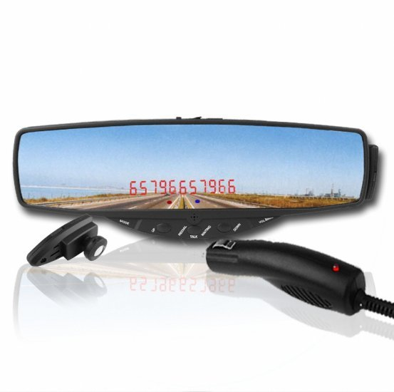 Car Bluetooth Rearview Mirror - Car Handsfree Device New