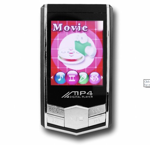 MP4 Player with 1.8 Inch OLED Screen (4GB) New