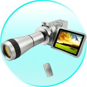 MPEG4 Digital Video Camcorder With Optical Telescope Zoom Lens New