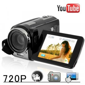 Youtube Direct 720P Touchscreen HD Camcorder (20x Zoom) New