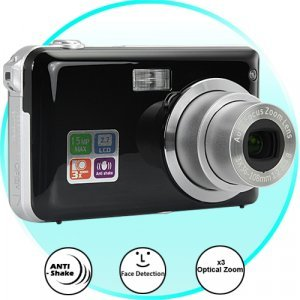 5MP Digital Camera with Face Detection + Optical Zoom New