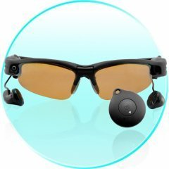 Sunglasses Camera with 4GB MP3 Player + Built-In Earphones New
