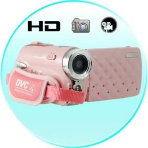 Pink Digital HD Camcorder With 3 Inch Touch Screen (30FPS) New