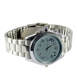 8GB Business Spy Watch - Stainless Steel Strap (Audio/Video) New