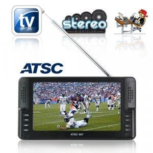 Handheld 7 inch Digital TV for North America (ATSC) New