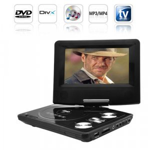 Portable DVD Player with 7 Inch LCD Widescreen + Copy Function New