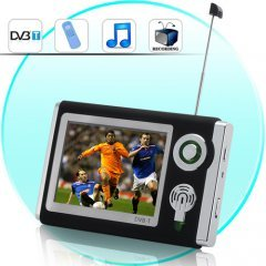 Portable DVB-T Digital TV Player (Recording, Remote, 3.5 Inch) New