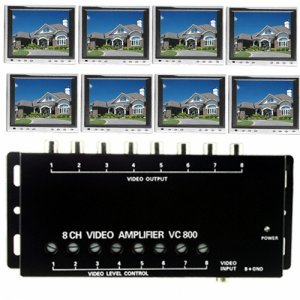 8 Channel RCA Video Booster New