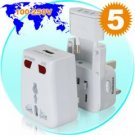 World Travel Adapter with USB Charging Port + Surge Protection New
