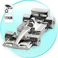 16GB USB Flash Drive - All Metal F1 Racecar New