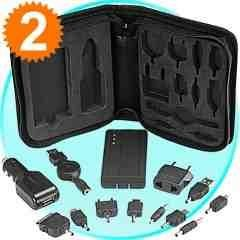 Mobile Phone and USB Charging Kit - Connectors and Battery Bag New