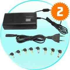 Multi-voltage AC/DC Power Adapter for Laptops + Media Devices New