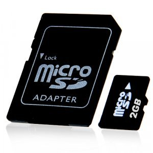 2GB MicroSD / TF Card with SD Card Slot Adapter � 10 New