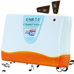 USB 7.1 Channel Sound Card New