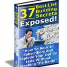 37 best List Building Secrets New