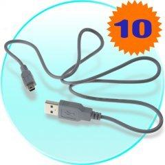 10pcs+ Mini-USB to USB Cable x 10 New