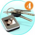 1.5 Inch Keychain Digital Photo Frame (Silver)  (Q:x4) New