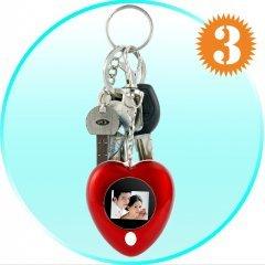 Heart-Shaped Mini Digital Photo Display Keyring (Q:X3) New