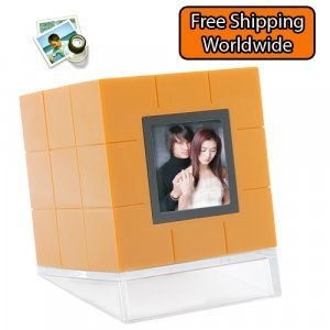 Cube Digital Photo Frame with 1.5 inch LCD New
