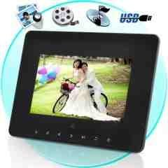 7 Inch Digital Multimedia Photo Frame w/ Remote Controller New