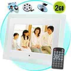 10 Inch Premium Digital Photo Frame with Media Player (2GB) New