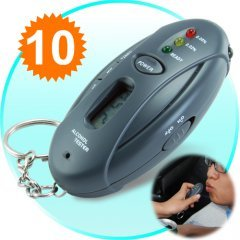 Breathalyzer Keychain Car Gadget - Flashlight + Stopwatch New