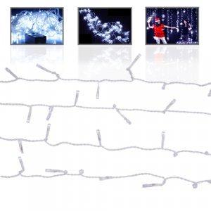 LED Twinkle Lights - 1000 Light Snowfall Curtain New